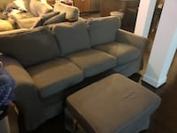 gray fabric 3-seat sofa Oakton, 22124
