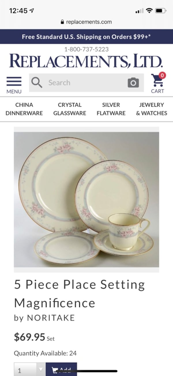 Nortake bone china magnificence, 14 place settings 4