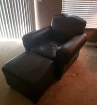 Genuine leather chair and Ottoman Alexandria, 22314