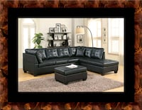 Black sectional with ottoman Beltsville, 20705