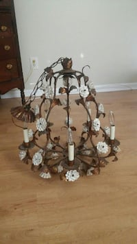 Florentine 1940s chandelier, 5 lights