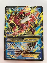 Rare Mega Gyarados EX with rare texture on card Romulus, 48174