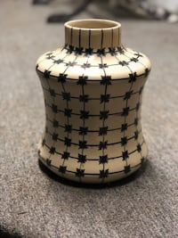 Bone Inlay Vase White Rock