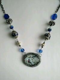 Hand made . Art bead with crystal and gold ,  silver accent. Glass art Montréal, H3X 2H5