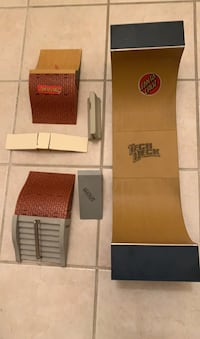 Tech Deck Skate Park with additional ramps and boards