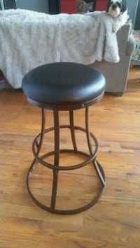 Set of leather topped metal bottom barstools Mars Hill, 28754