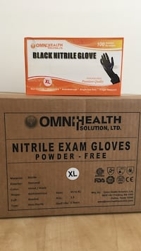Black Nitrile Glove and Exam Gloves boxes Saint Johns, 32259