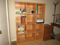 Maple Wood 12 Cube Bookcase