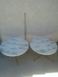 "Metal Marble Look 13"" Tall Patio Tables 20.00 each Palm Desert, 92260"