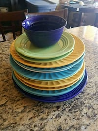 blue and green ceramic plates San Diego, 92116