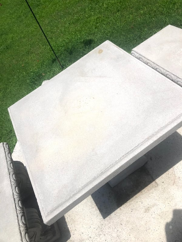 Outdoor Concrete Table and Bench Patio Set 4f8f8f30-2ff0-4423-951b-35c420024429