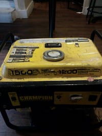 yellow and black Champion portable generator Brantford