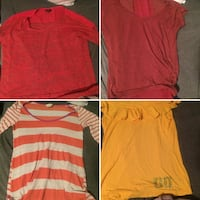 red and white crew-neck shirts 2342 mi