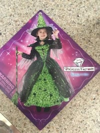 Girls Halloween Costume - Magical Witch Size 7/8