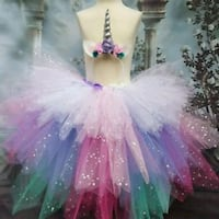 white, pink, green and purple sparkle tutu skirt Toronto, M6N