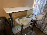BAR TABLE WITH TWO CHAIRS  New York, 10456