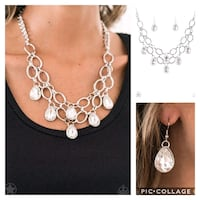 Show stopping shimmer white necklace  Gaithersburg