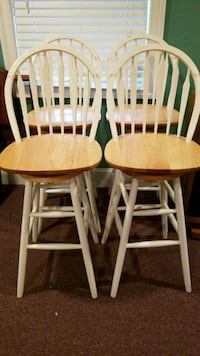Four brown wooden windsor chairs Rockville, 20855