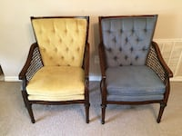 2 Beautiful Vintage Cane Chairs Lake City