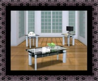 3pc glass coffee table Brentwood