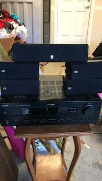 black Yamaha home theater system Puyallup, 98371