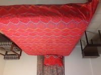 red and white quatrefoil bed sheet Wheaton-Glenmont