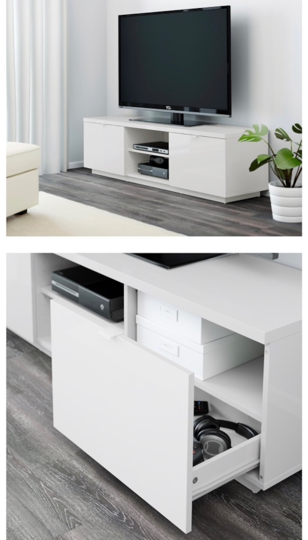 Fonkelnieuw Used ikea byas tv stand(high gloss) for sale in Jersey City - letgo QP-67