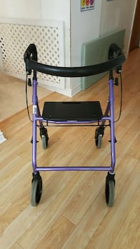 purple and black rollator