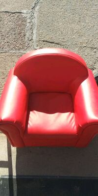 red leather sofa chair for a child Aurora, 80010