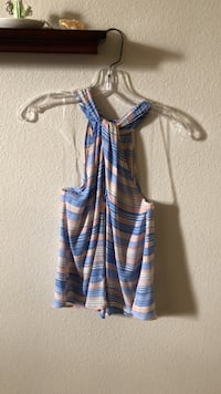 blue and orange striped halter top San Marcos, 78666