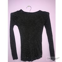 black and white striped long-sleeved dress 58 km