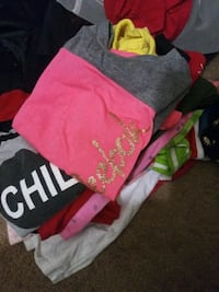 box full of kids clothes