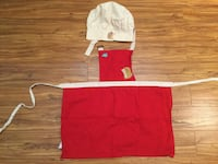 Child apron and hat Brossard, J4X 2P3