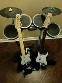 Rock Band 2 and 3 w/ drum set, 2 guitars Riverside, 92507