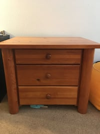 Short 3 drawer dresser. Any questions let me know! Also selling a matching regular size dresser as well.  Corona, 92879