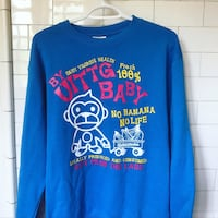 blue and red crew-neck long-sleeved shirt Vancouver, V6J