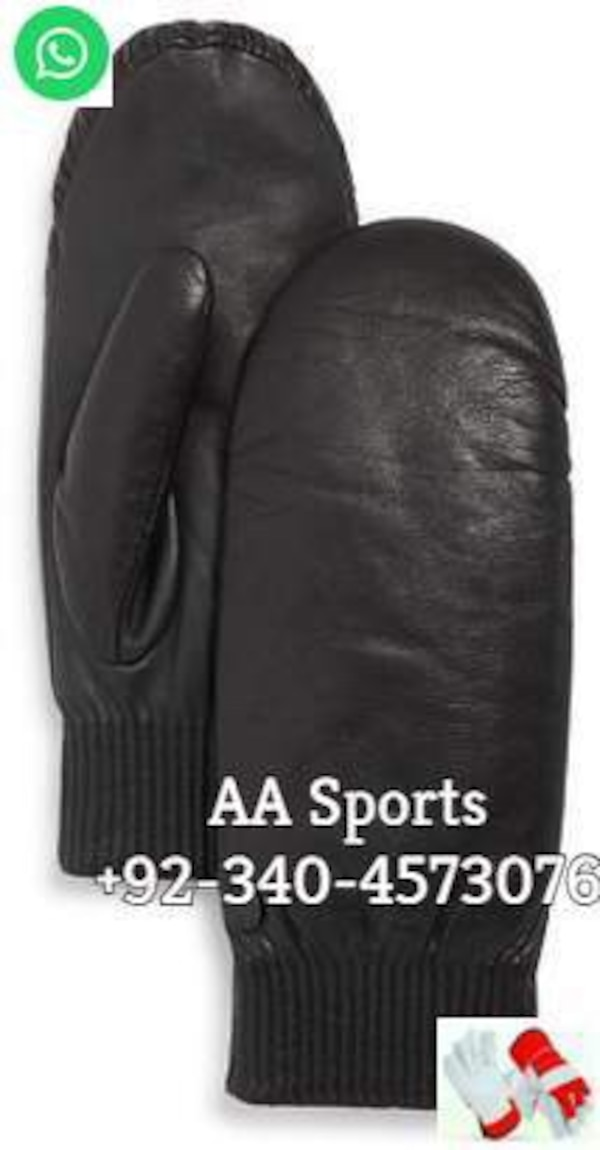 Leather mittens gloves