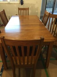 wooden table with 6  chairs dining set Vaughan, L4L 7C3