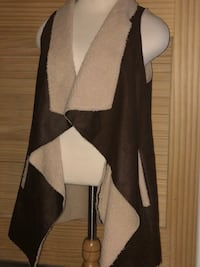 Dark Brown Faux Fur Vest Omaha, 68130