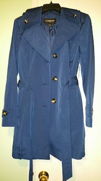 women's Blue trench coat  new