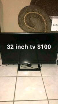 black flat screen TV with text overlay Cathedral City, 92234
