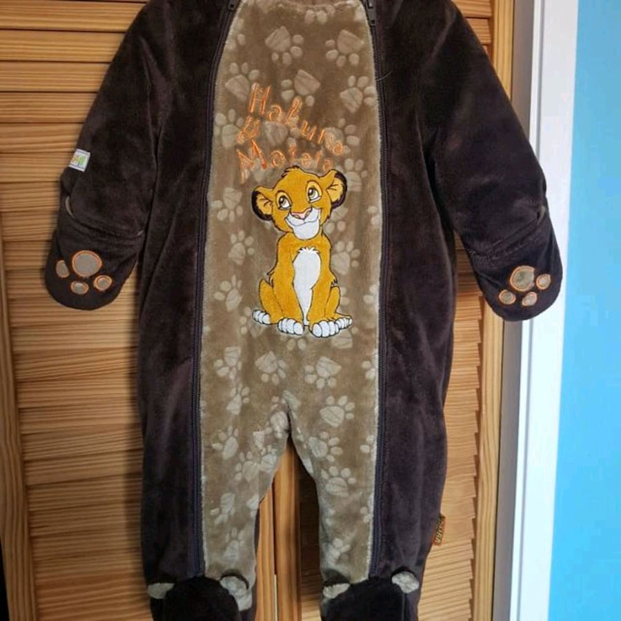lion king snow suit. Never worn but washed.