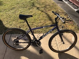 "Giant Boulder 24"" juniors 15 speed mountain bike with extra seat"