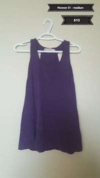 women's purple sleeveless top Calgary