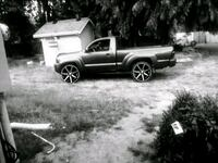 black and white single cab pickup truck Olympia, 98501