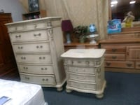 Nice heavy marbletop dresser and night stand Houston, 77077