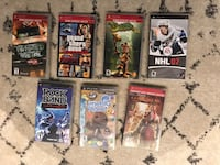 Lot of 7 PSP Games w Case - God Of War Grand Theft Auto Daxter Little Big Planet