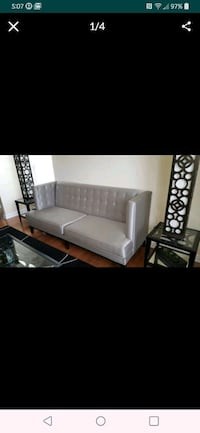 Sofa high back color gray nonsmoker excellent condition only few month