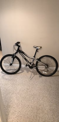 black and white full-suspension bike Suwanee, 30024