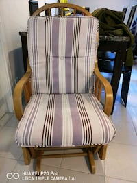white and brown striped padded armchair Mississauga, L5C 1J9